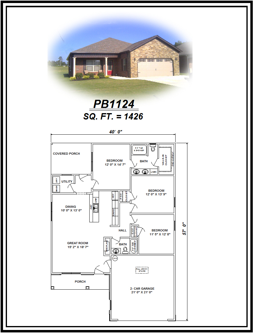 picture of house plan #PB1124