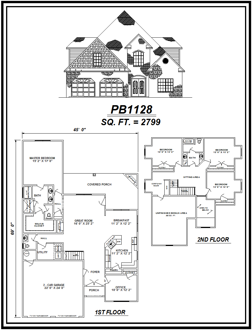 picture of house plan #PB1128