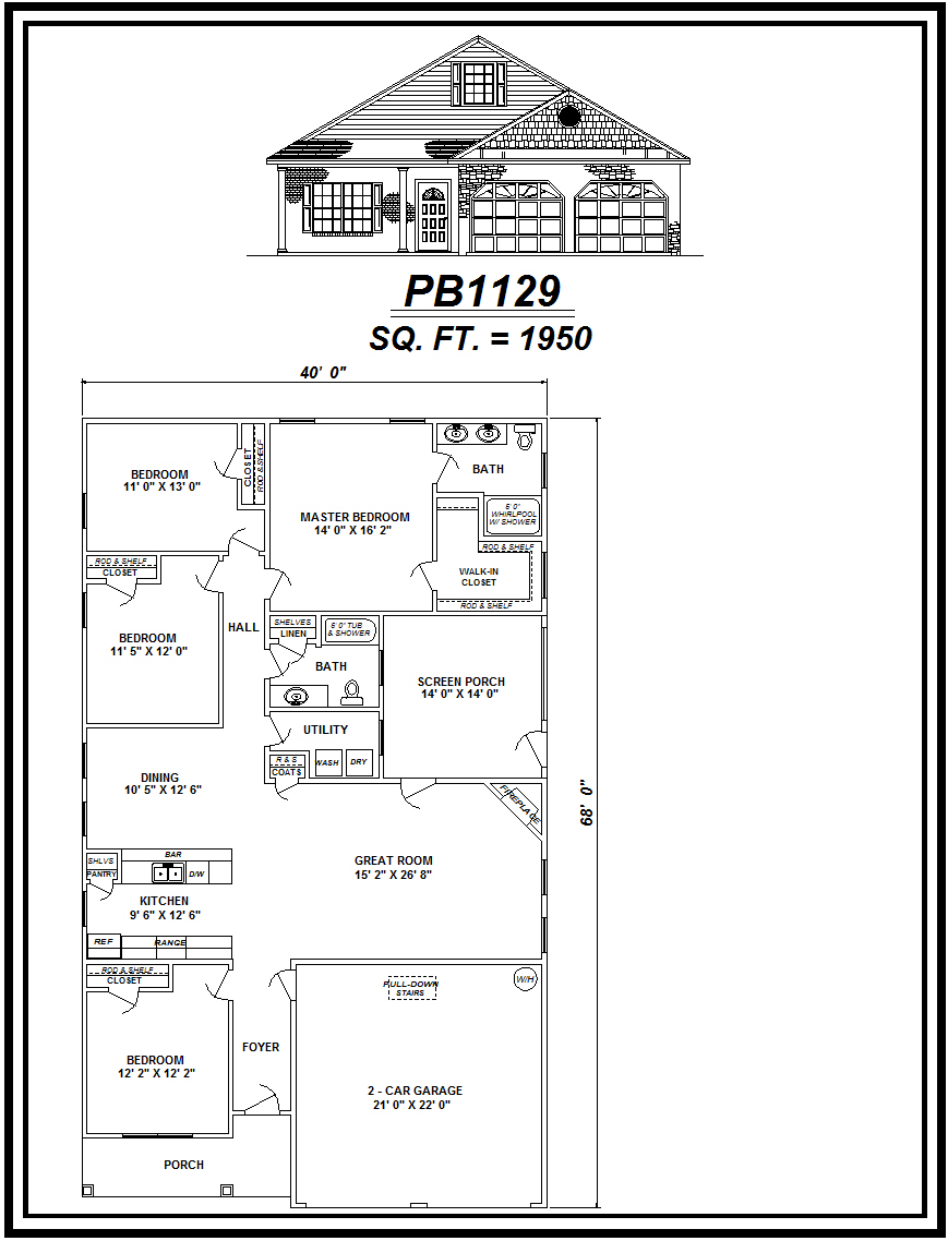 picture of house plan #PB1129