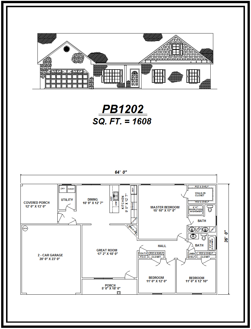 picture of house plan #PB1202