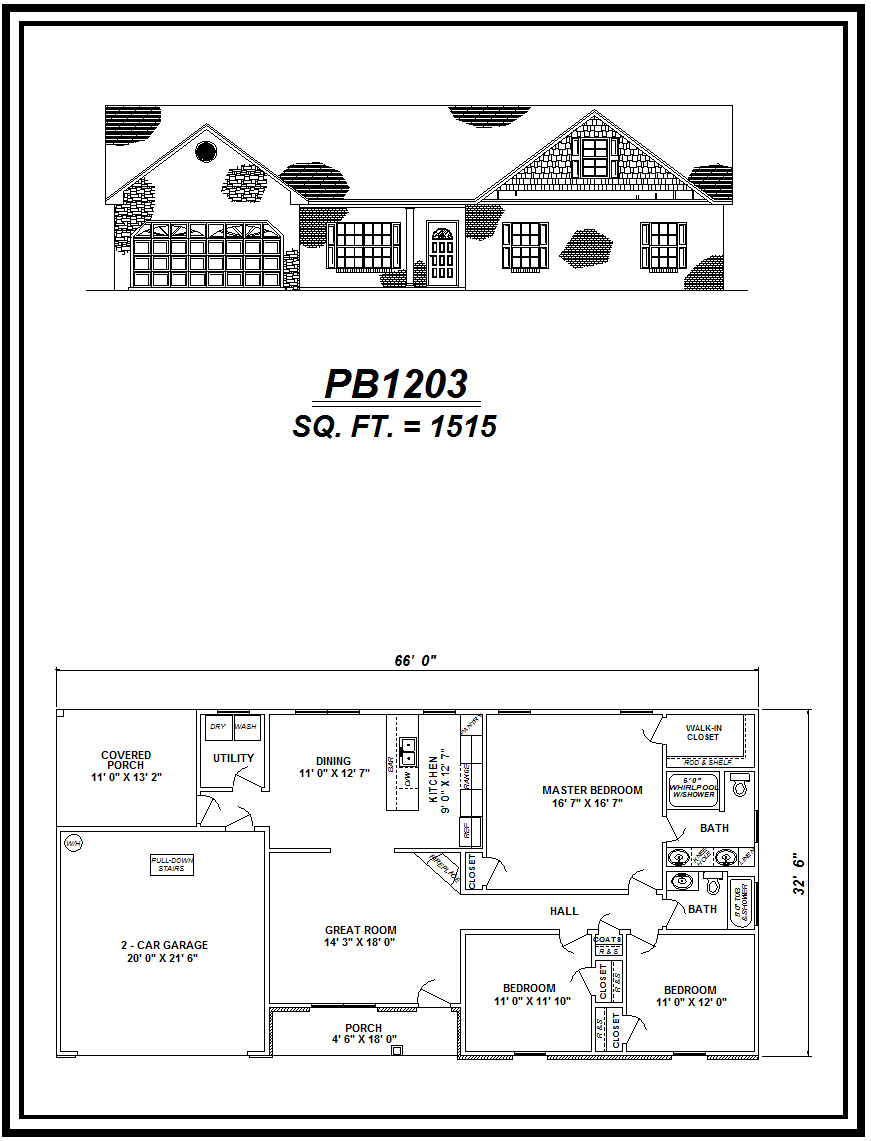 picture of house plan #PB1203