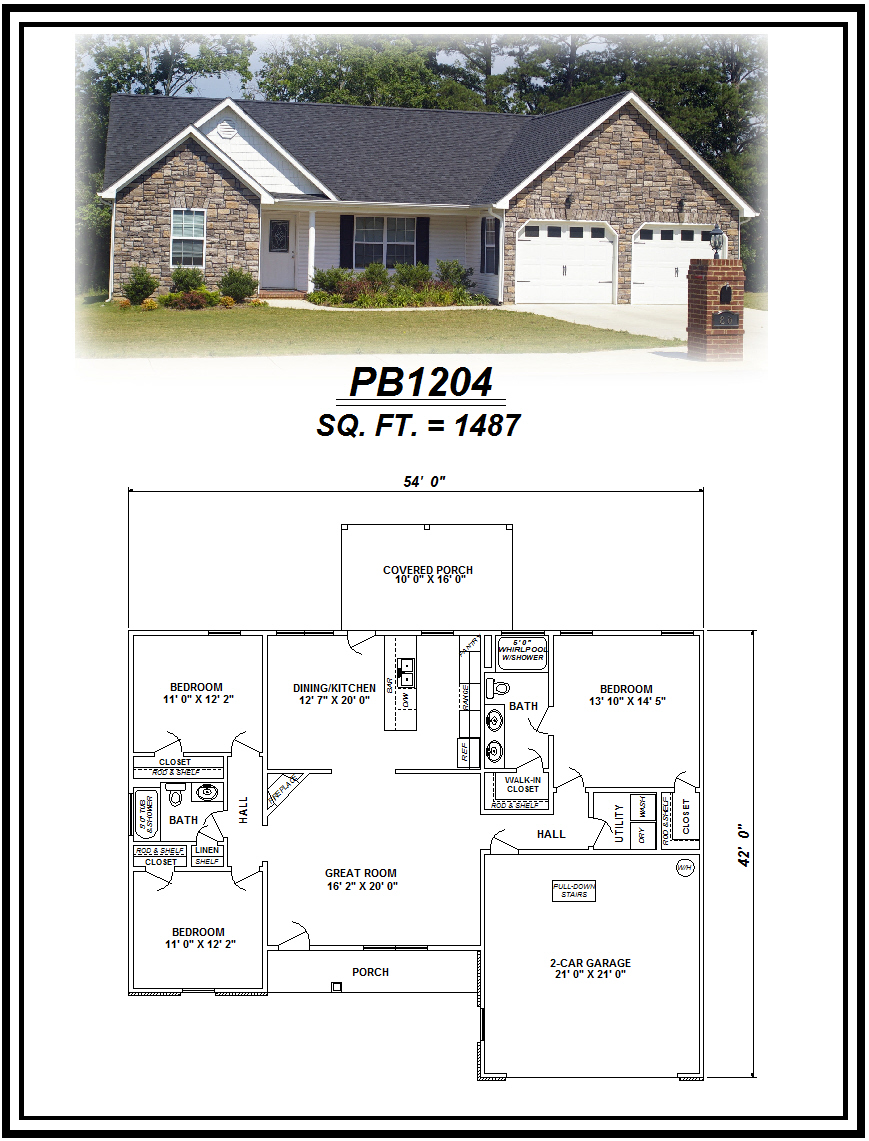 picture of house plan #PB1204