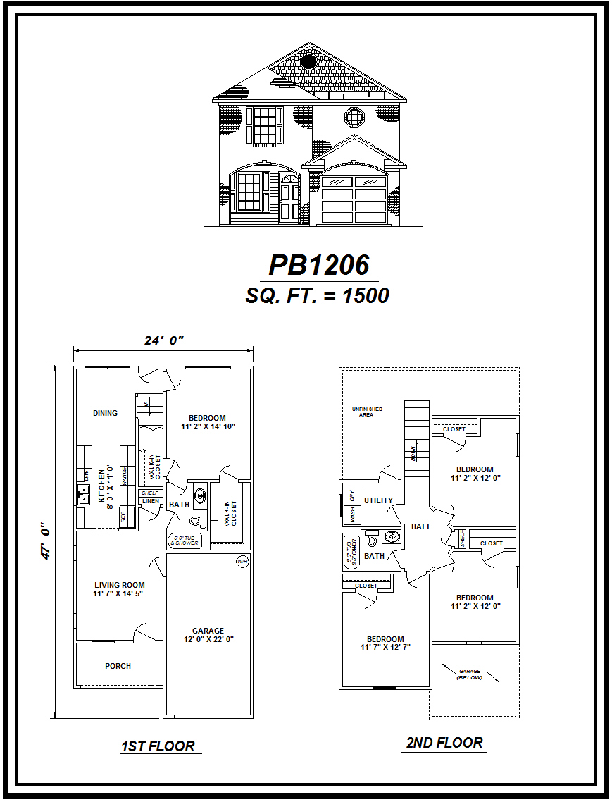 picture of house plan #PB1206