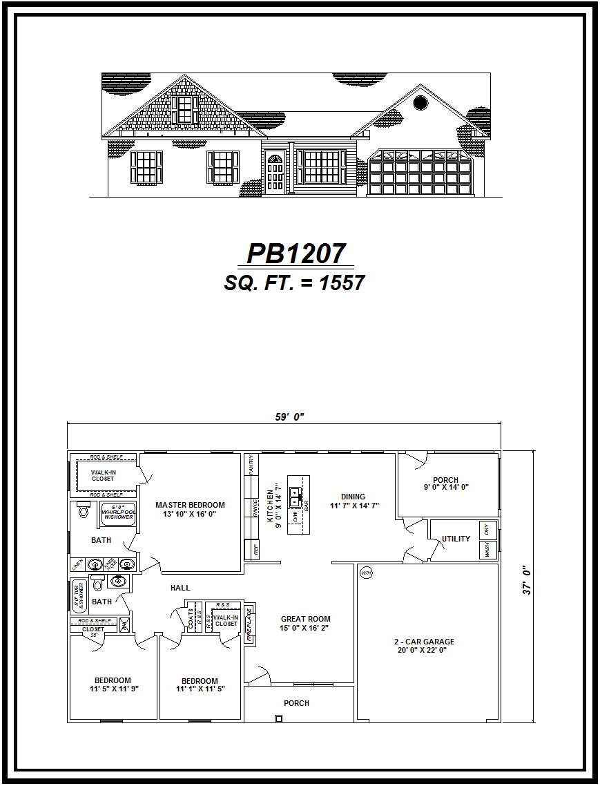 picture of house plan #PB1207