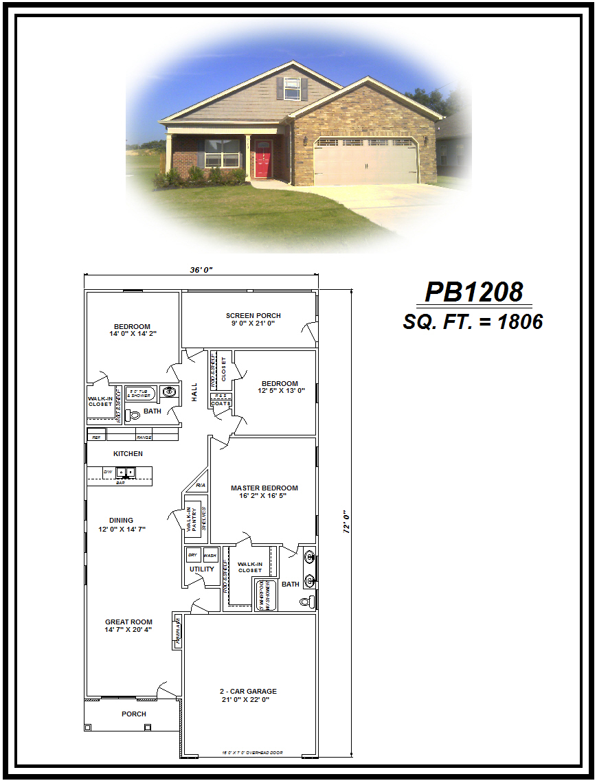 picture of house plan #PB1208