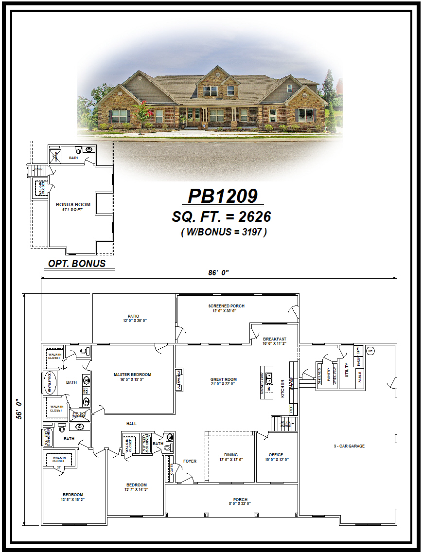 picture of house plan #PB1209