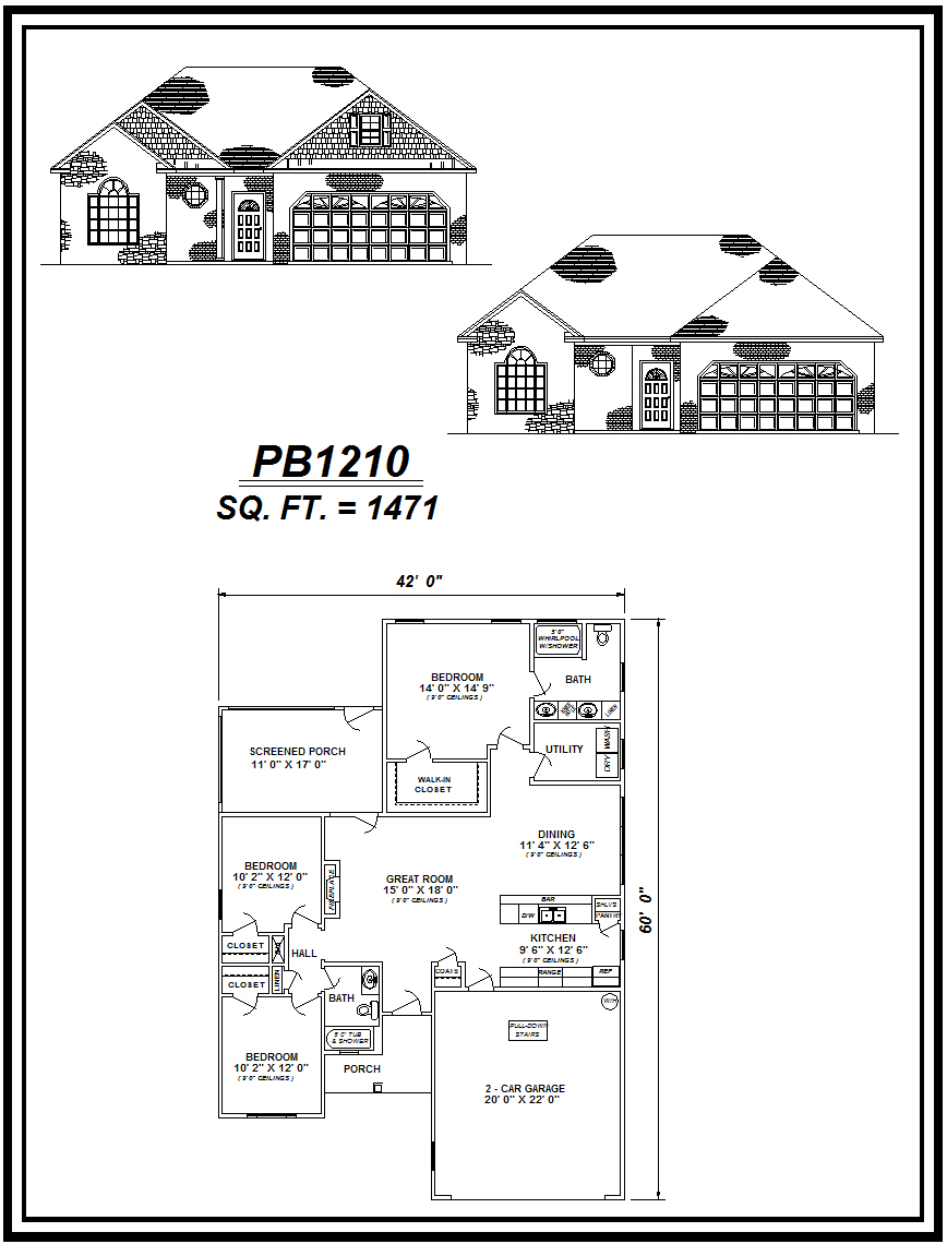 picture of house plan #PB1210