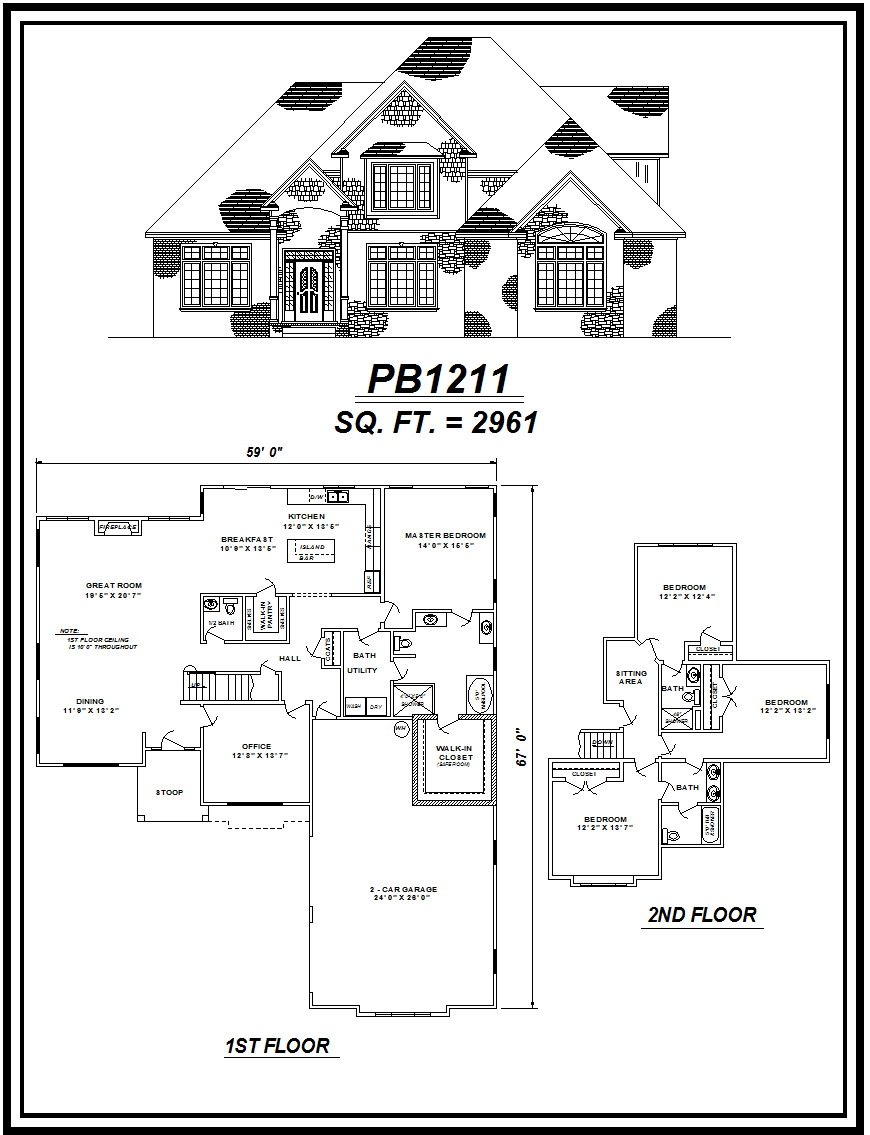 picture of house plan #PB1211