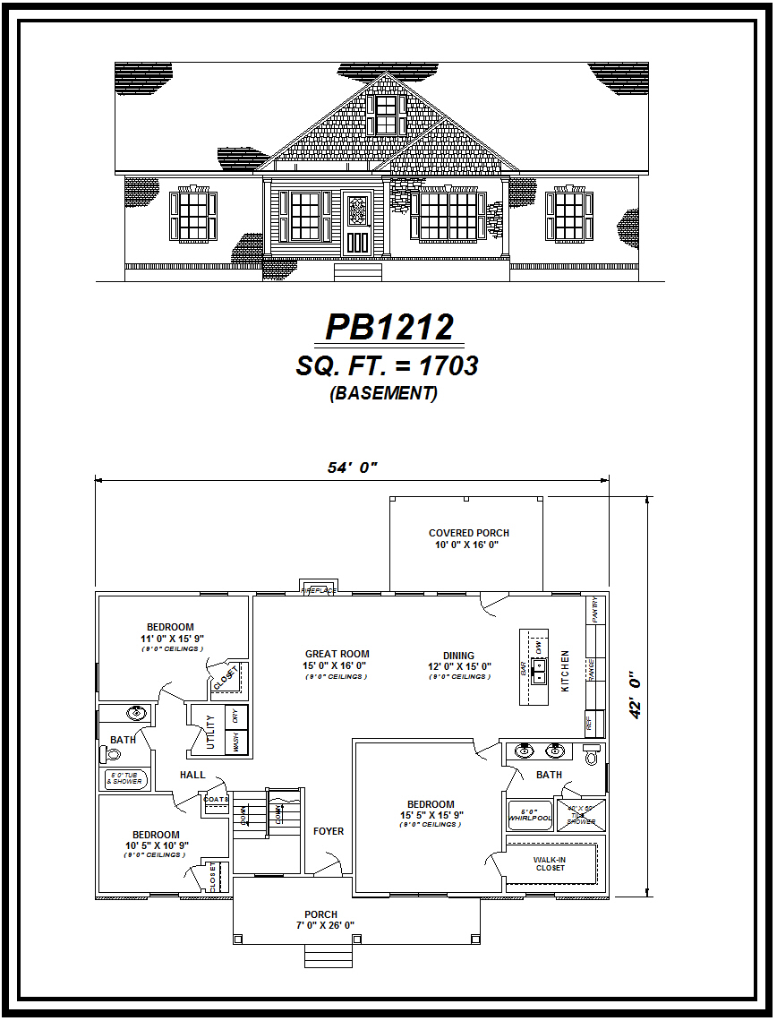 picture of house plan #PB1212