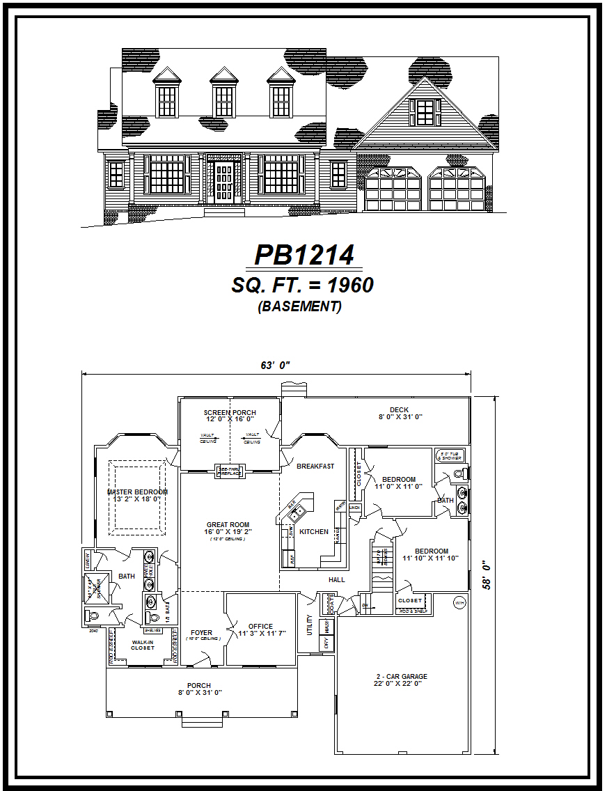picture of house plan #PB1214