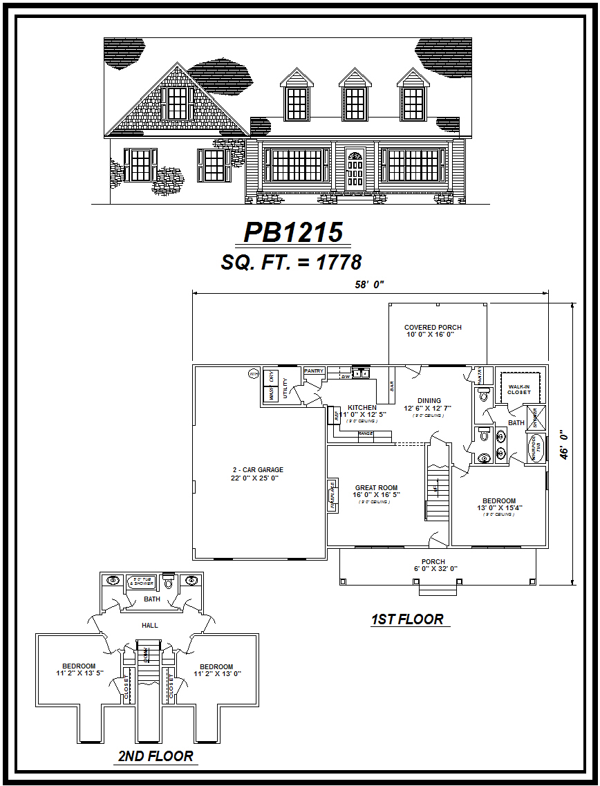 picture of house plan #PB1215