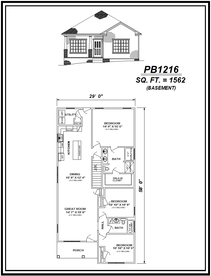 picture of house plan #PB1216