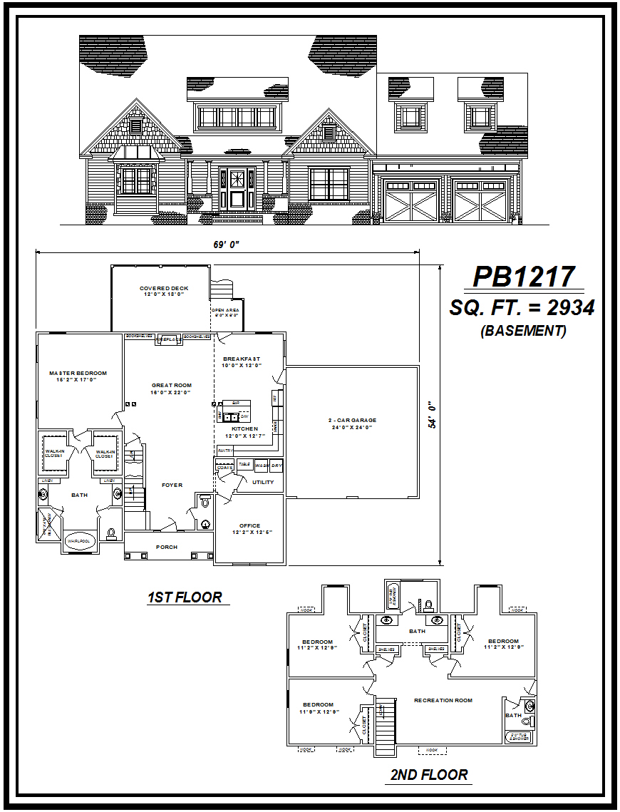 picture of house plan #PB1217