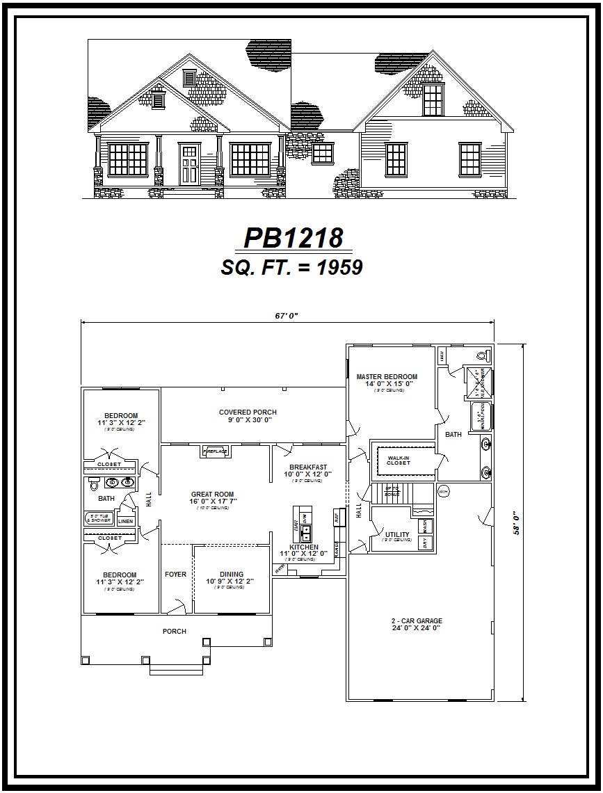 picture of house plan #PB1218