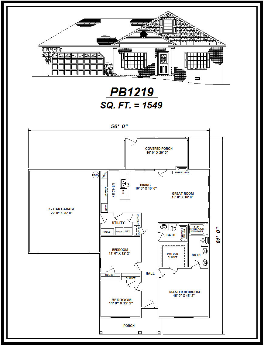 picture of house plan #PB1219