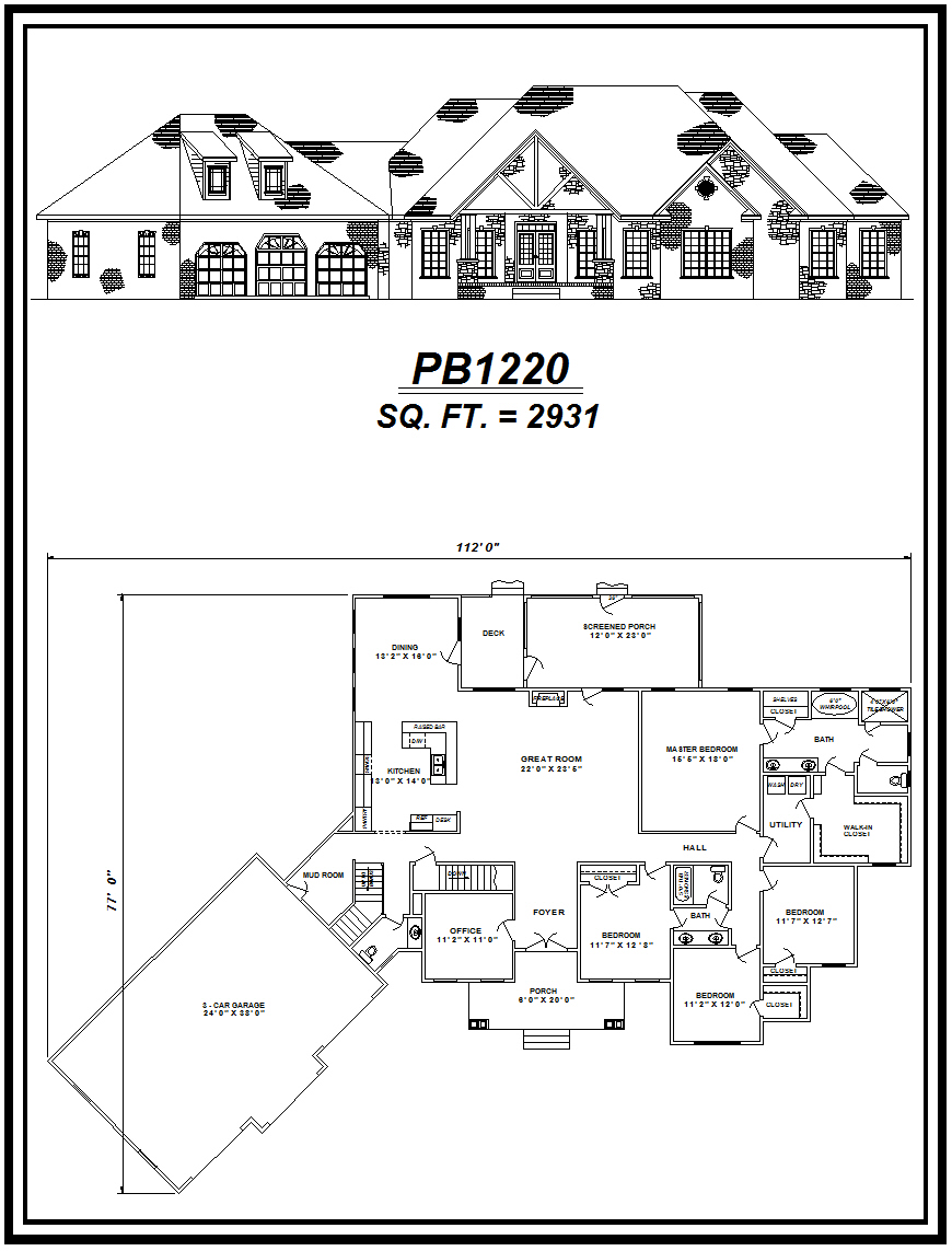 picture of house plan #PB1220