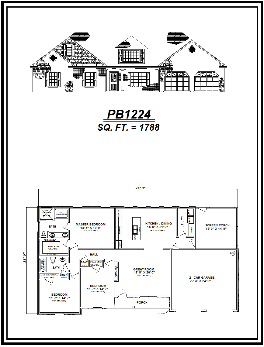 picture of house plan #PB1224