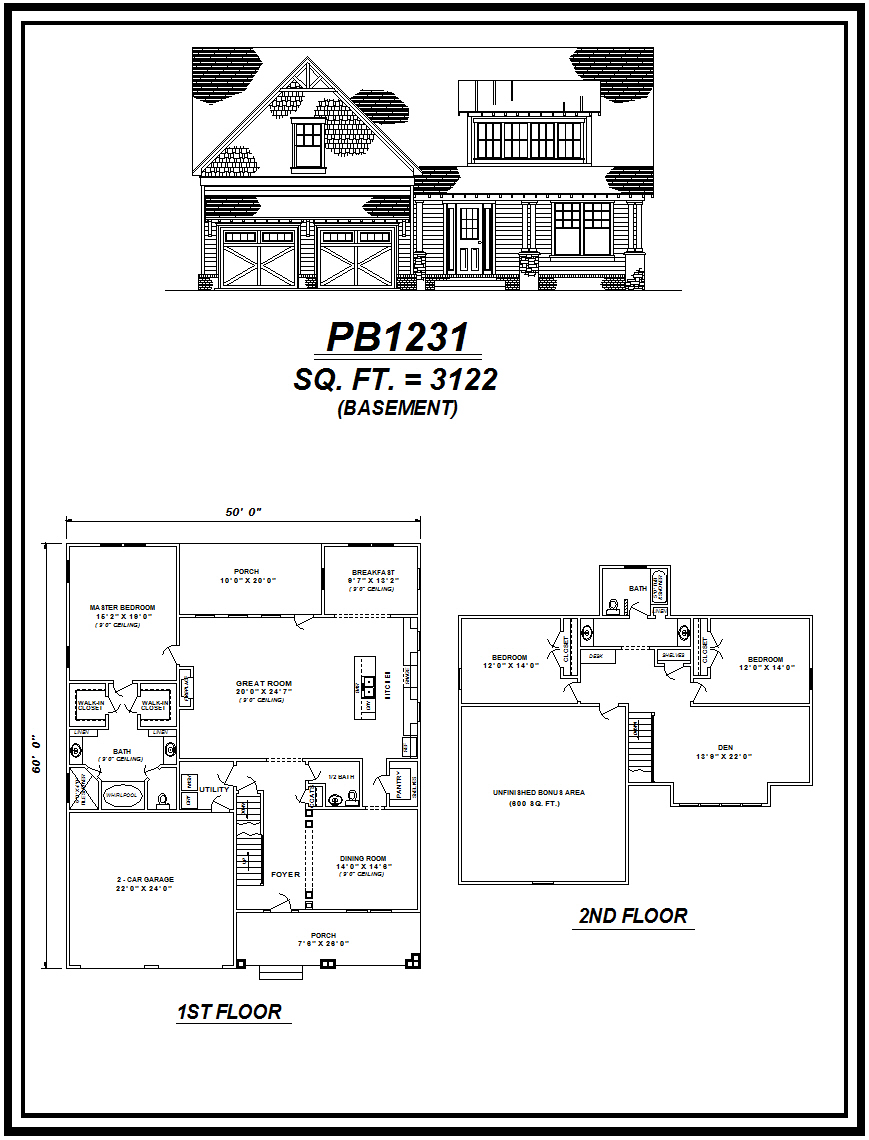 picture of house plan #PB1231