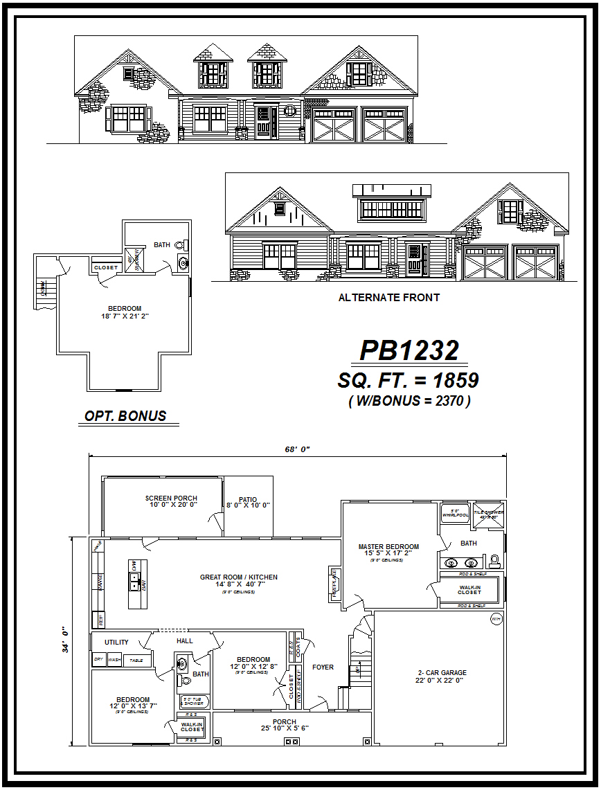 picture of house plan #PB1232