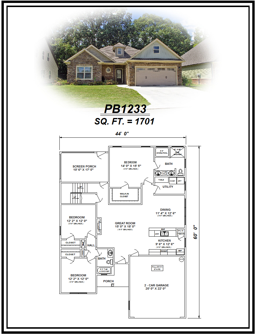 picture of house plan #PB1233