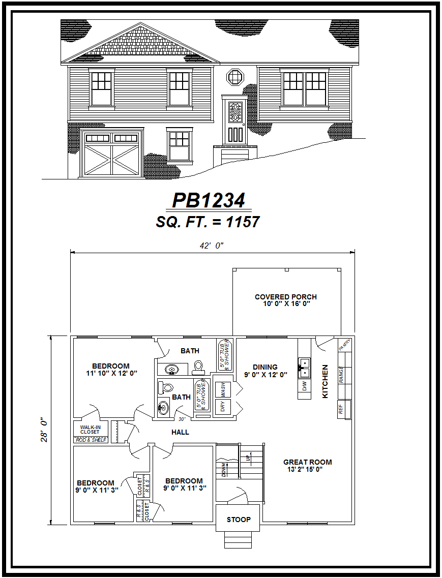 picture of house plan #PB1234