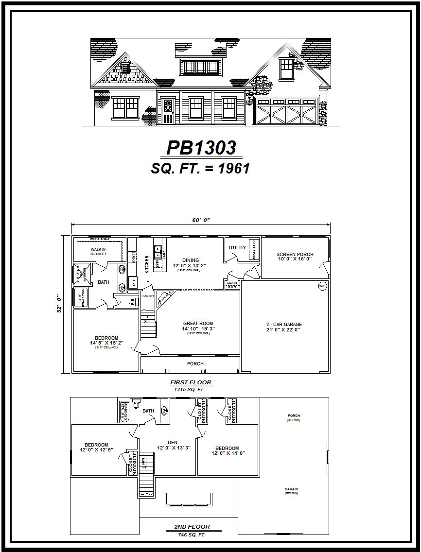 picture of house plan #PB1303