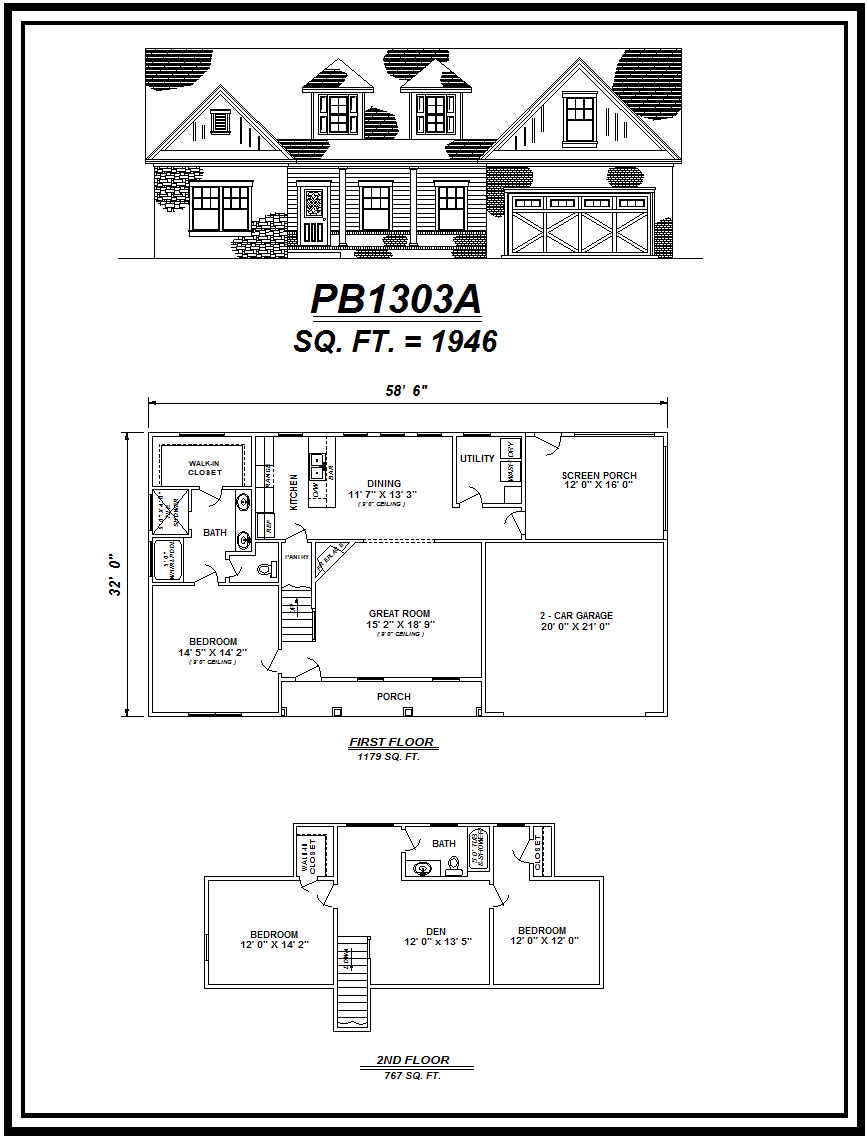 picture of house plan #PB1303A