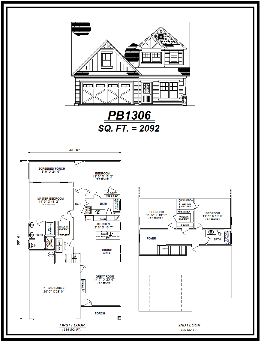 picture of house plan #PB1306
