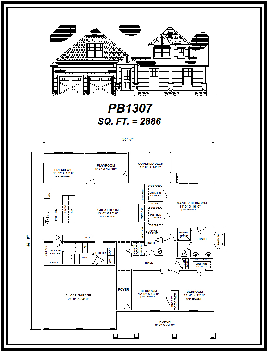 picture of house plan #PB1307