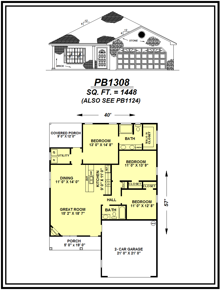 picture of house plan #PB1308