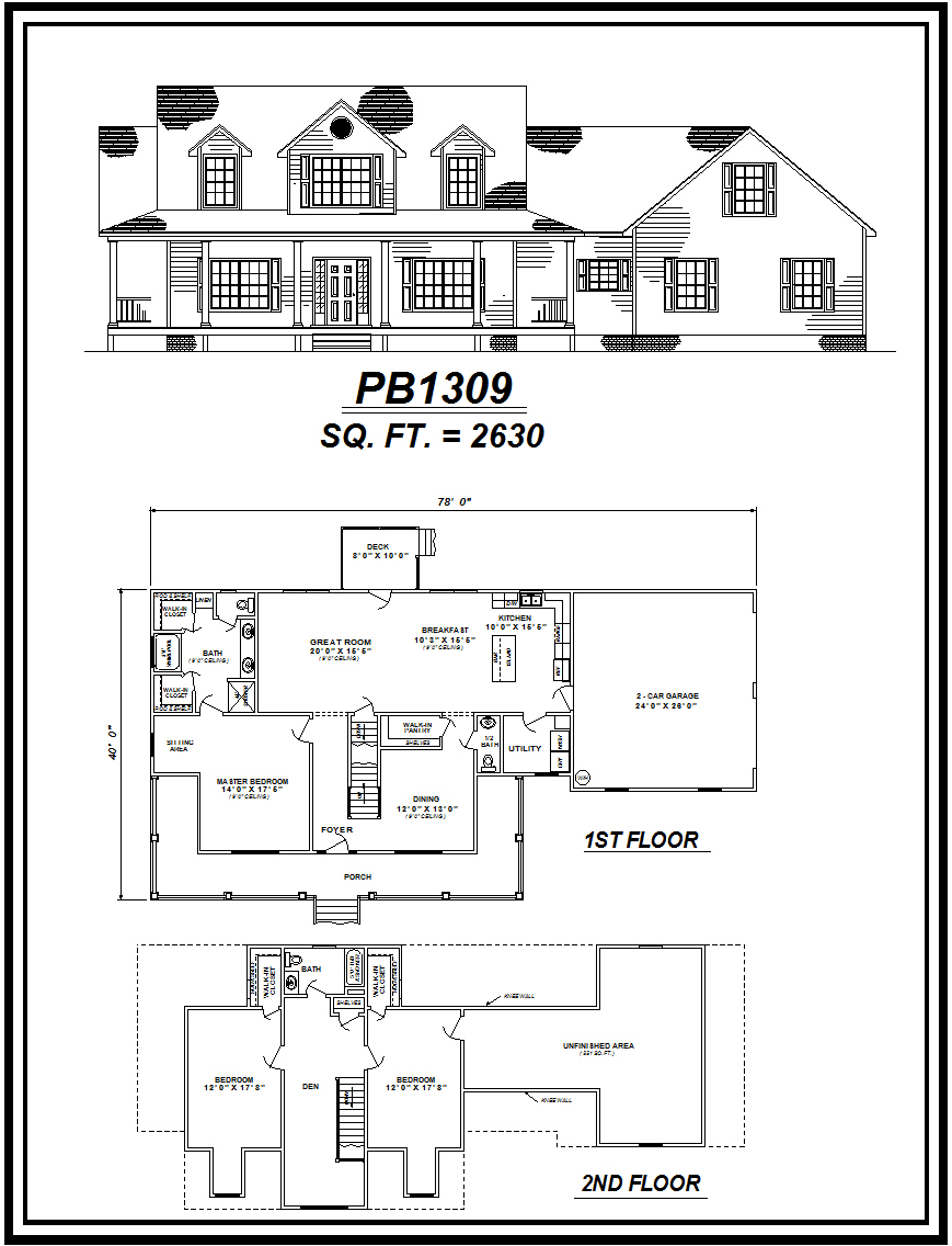 picture of house plan #PB1309
