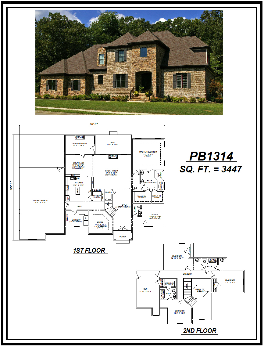 picture of house plan #PB1314