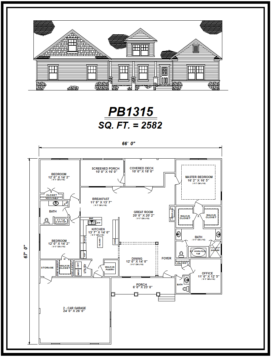 picture of house plan #PB1315