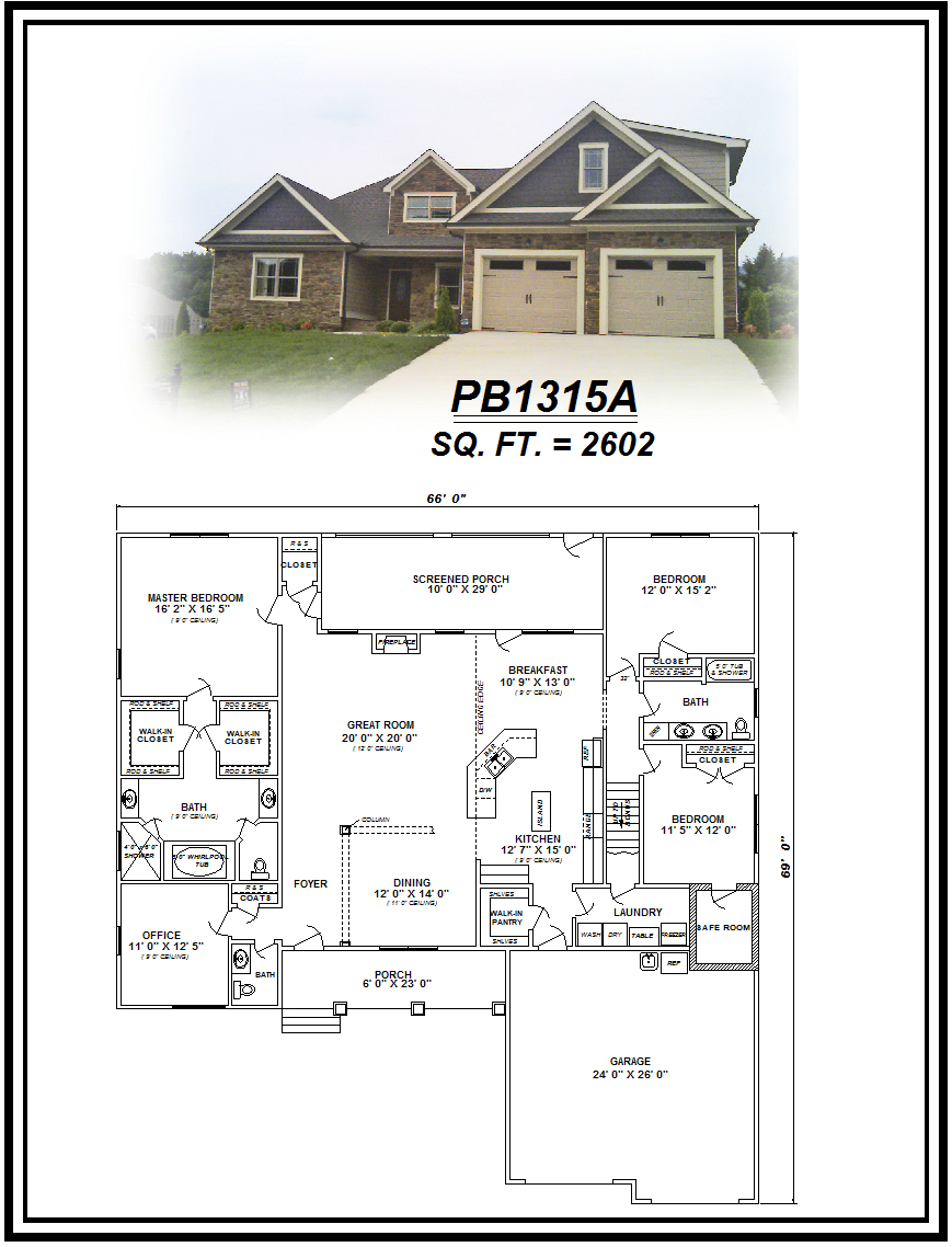 picture of house plan #PB1315A