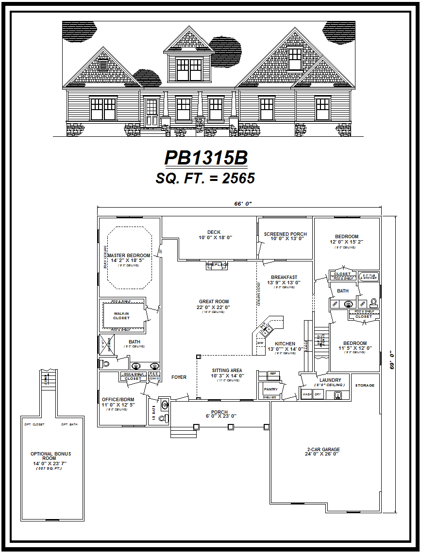 picture of house plan #PB1315B