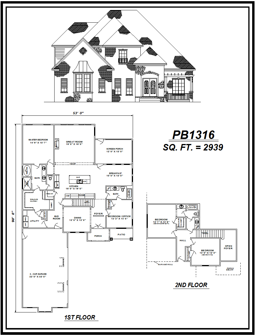 picture of house plan #PB1316