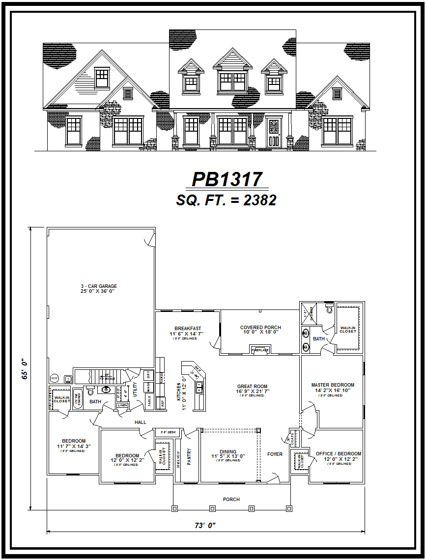 picture of house plan #PB1317