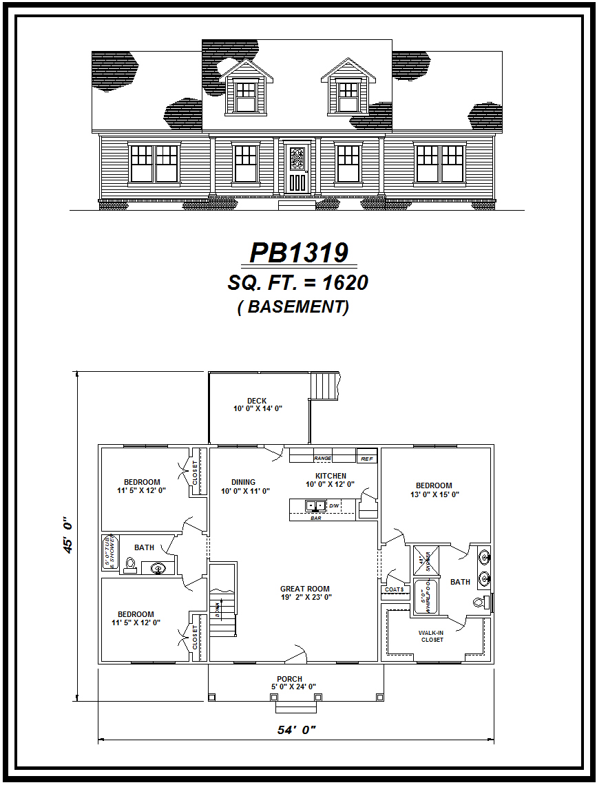 picture of house plan #PB1319