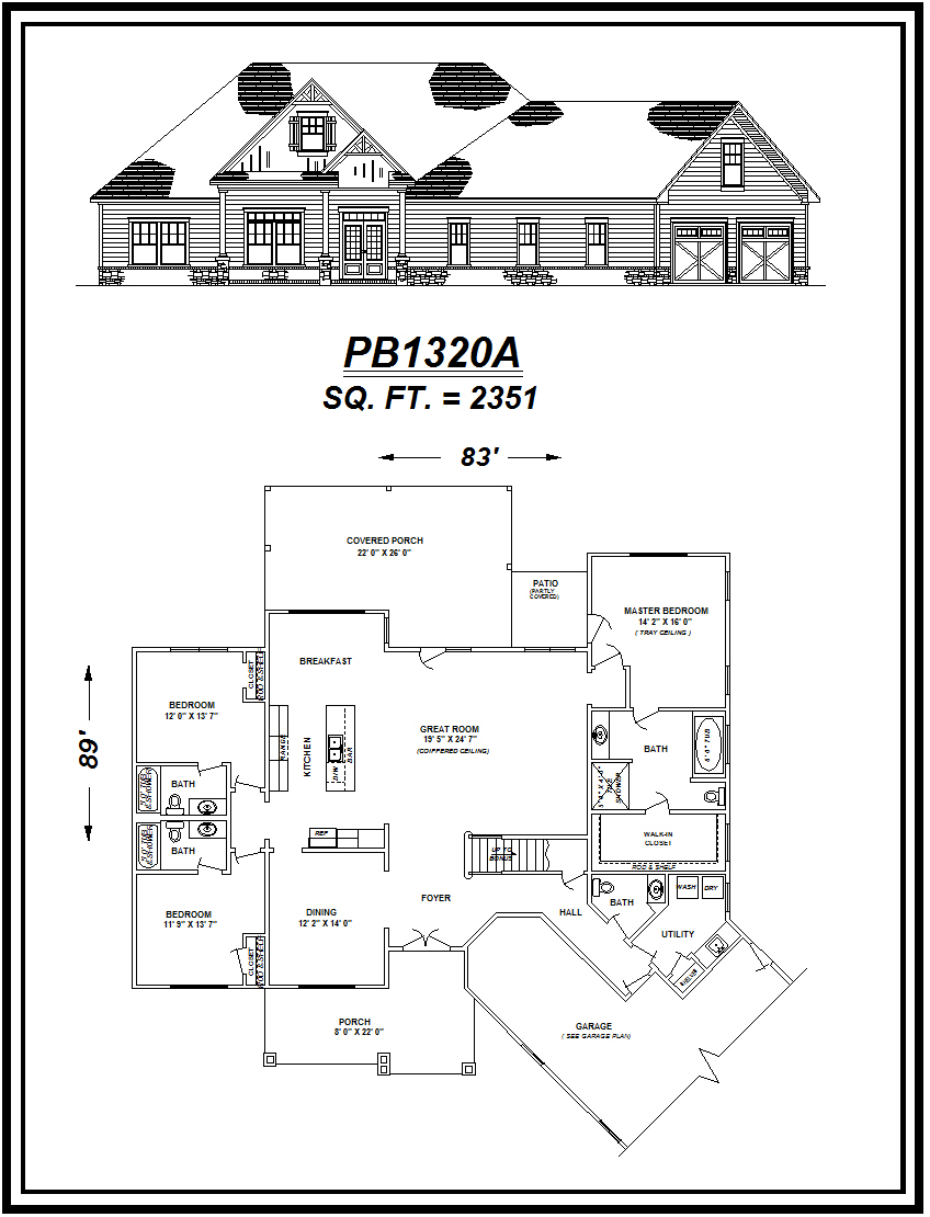 picture of house plan #PB1320A