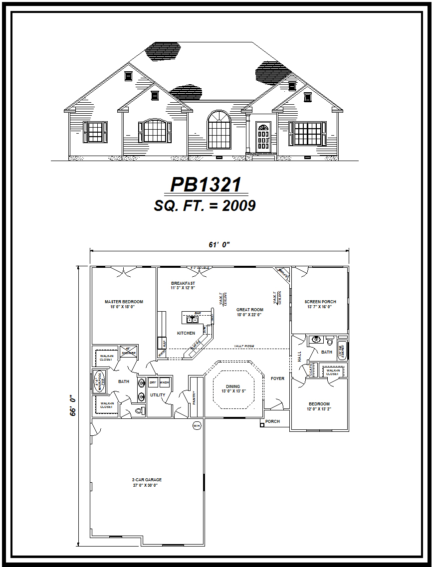 picture of house plan #PB1321