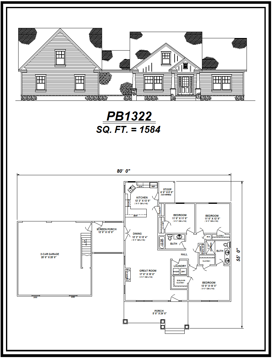 picture of house plan #PB1322