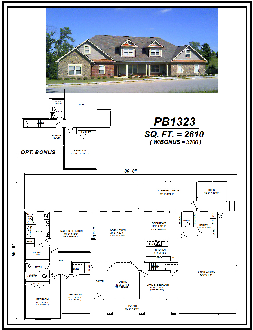 picture of house plan #PB1323