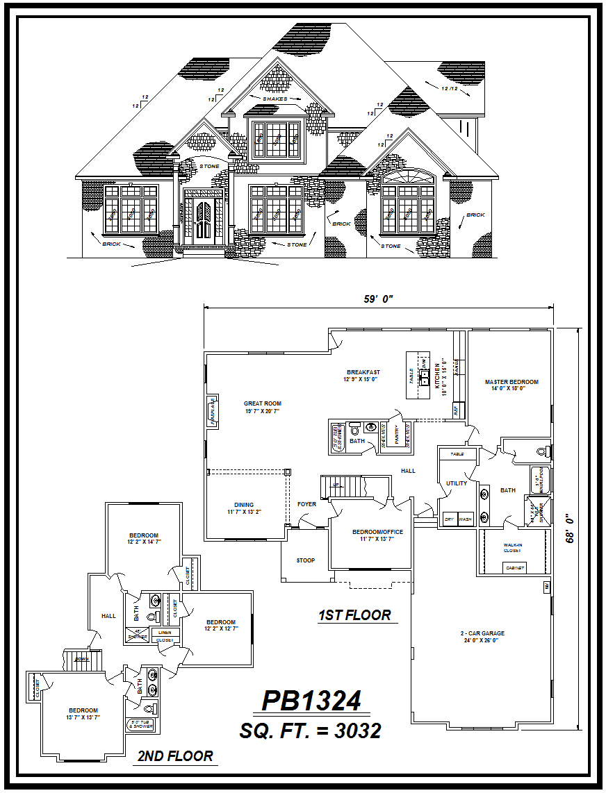 picture of house plan #PB1324