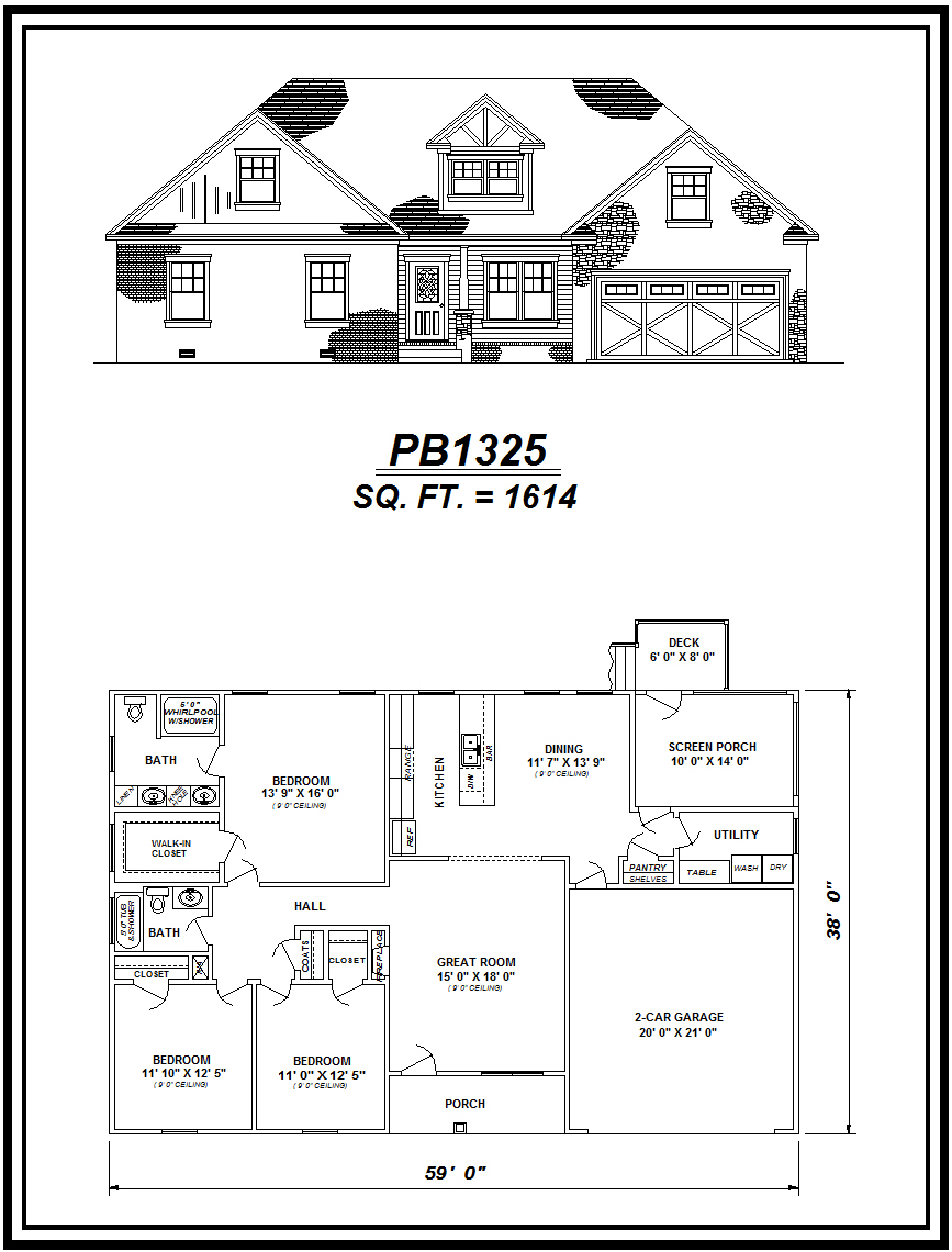 picture of house plan #PB1325