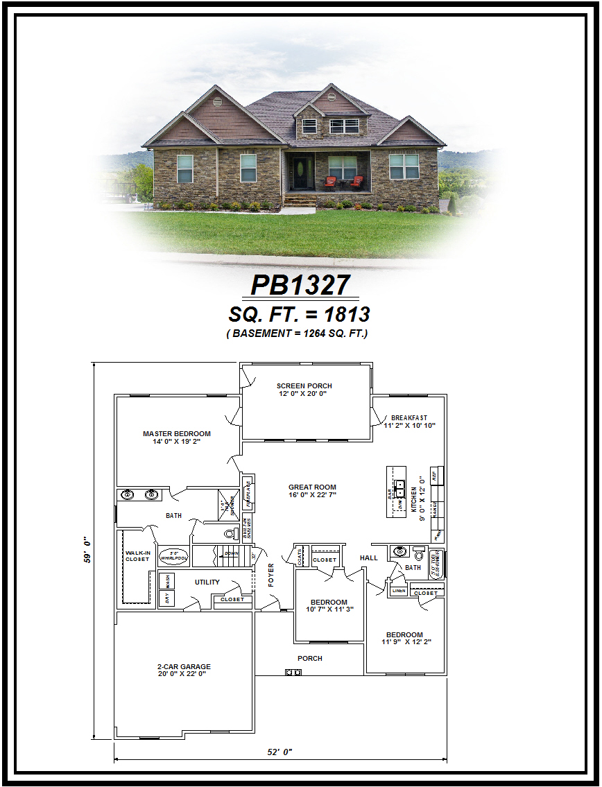 picture of house plan #PB1327