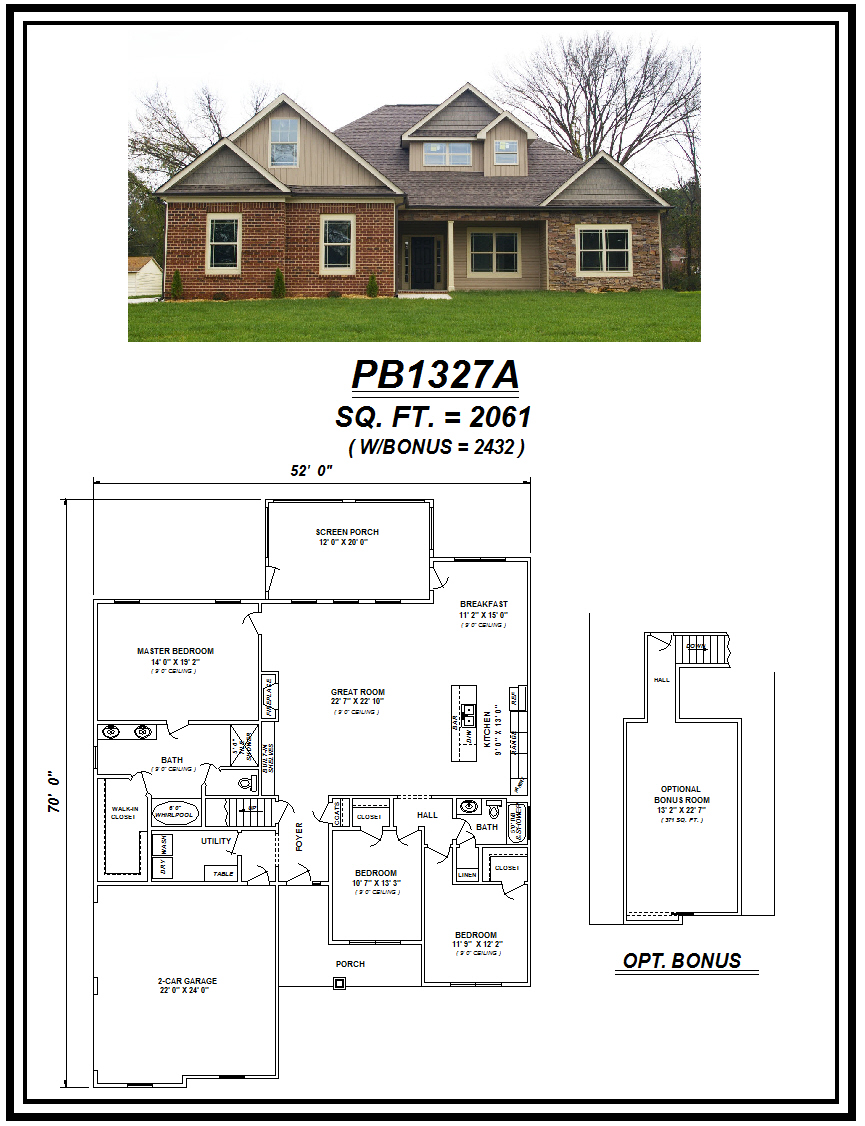 picture of house plan #PB1327A