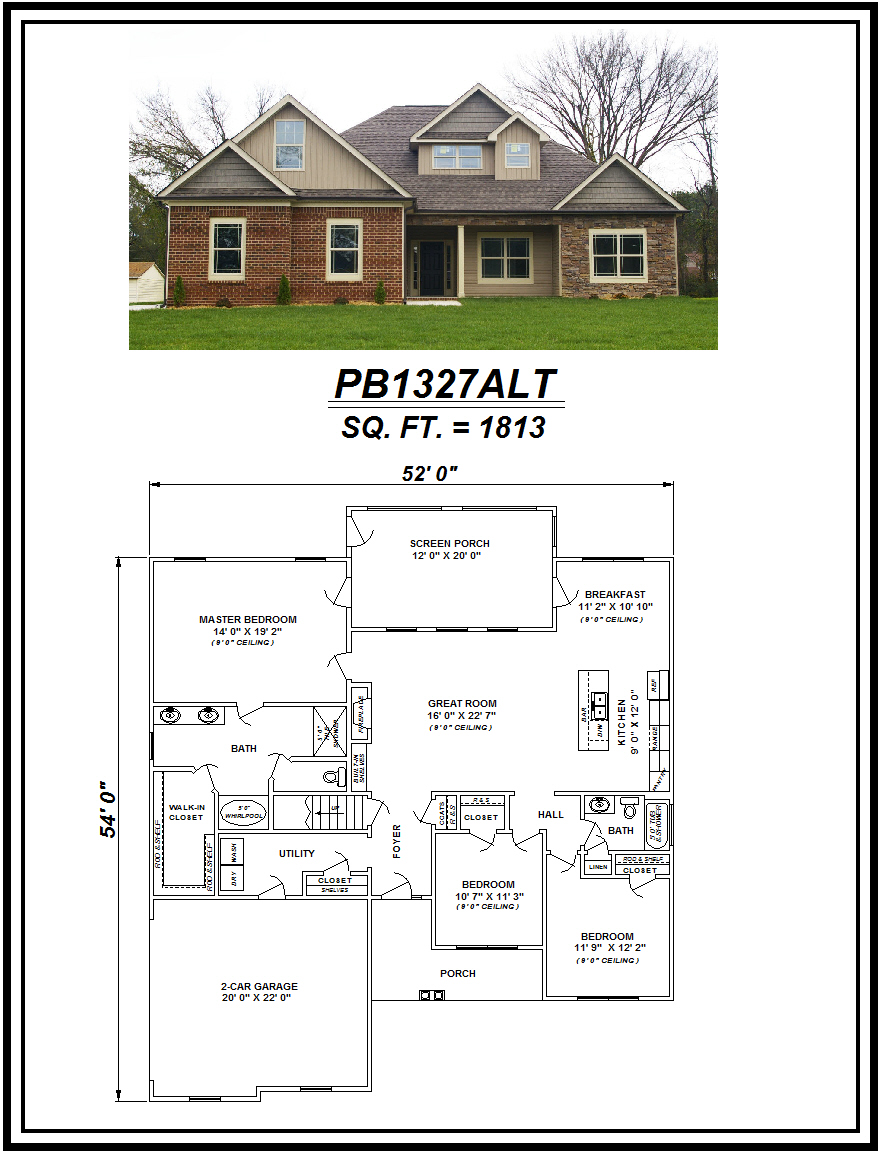 picture of house plan #PB1327ALT