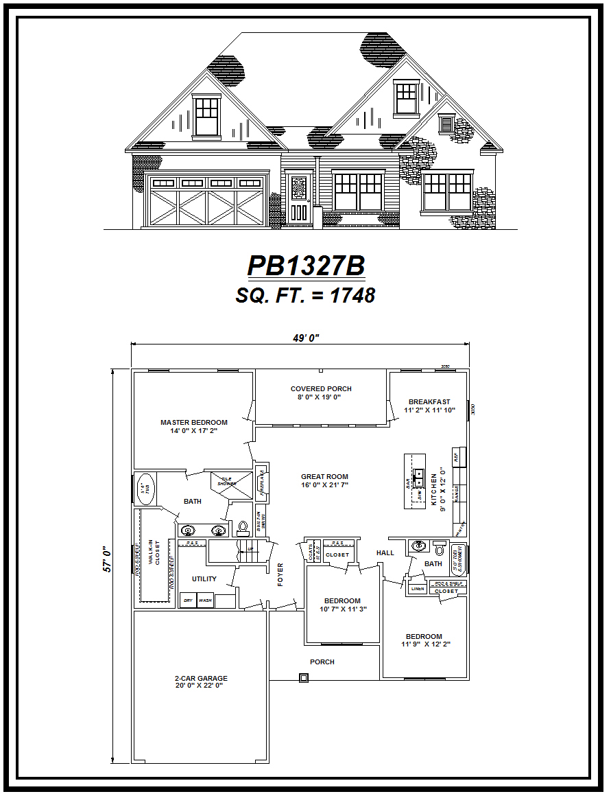 picture of house plan #PB1327B