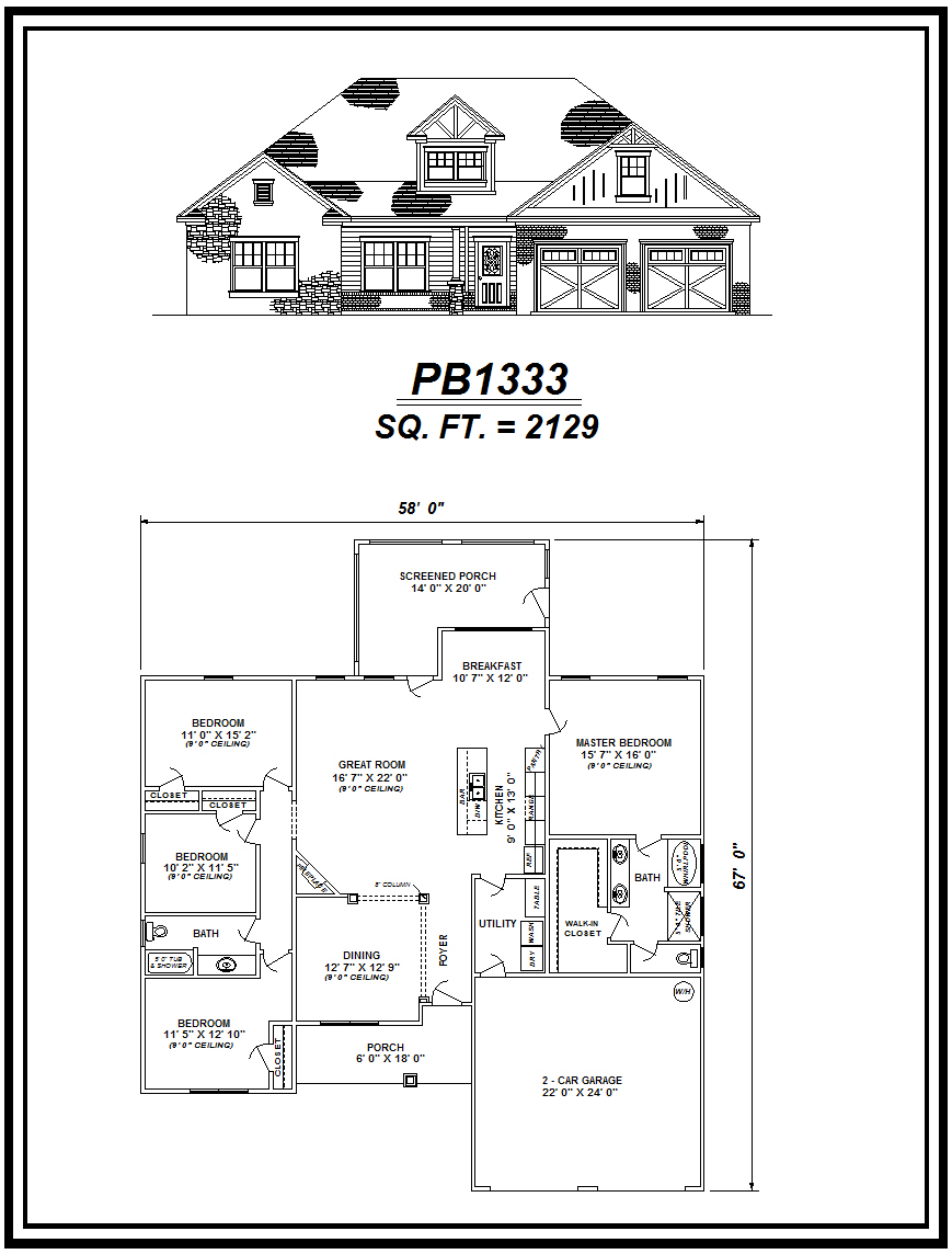 picture of house plan #PB1333