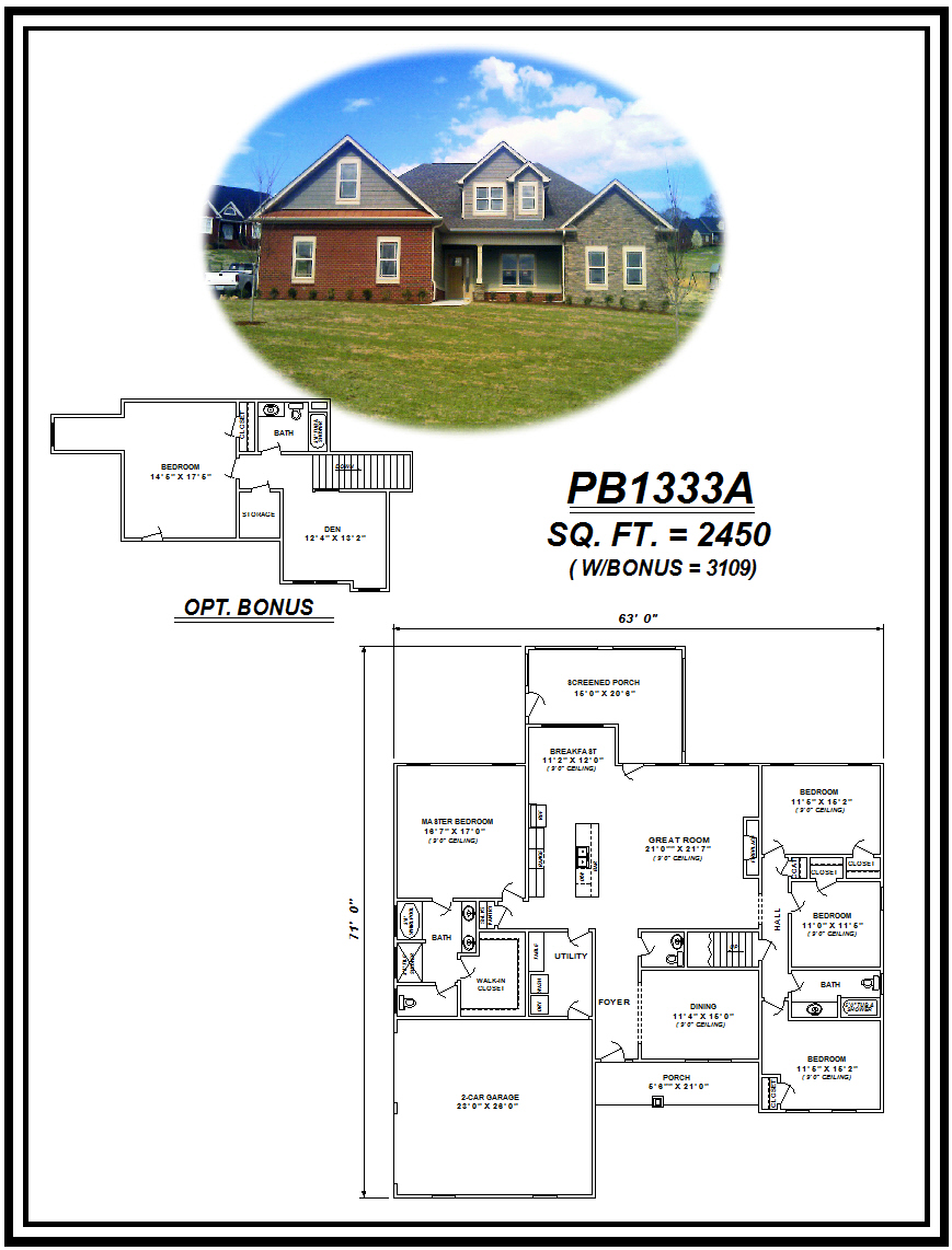 picture of house plan #PB1333A